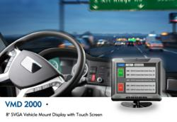 """VMD 2000 - 8"""" SVGA Vehicle Mount Display with Touch Screen and LVDS Interface"""
