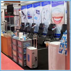 Beaming White Pro Beauty Trade Show Booth Manchester UK