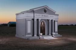 Private granite mausoleum