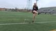Annika Ortiz-Smith Working on Her Kicking Technique