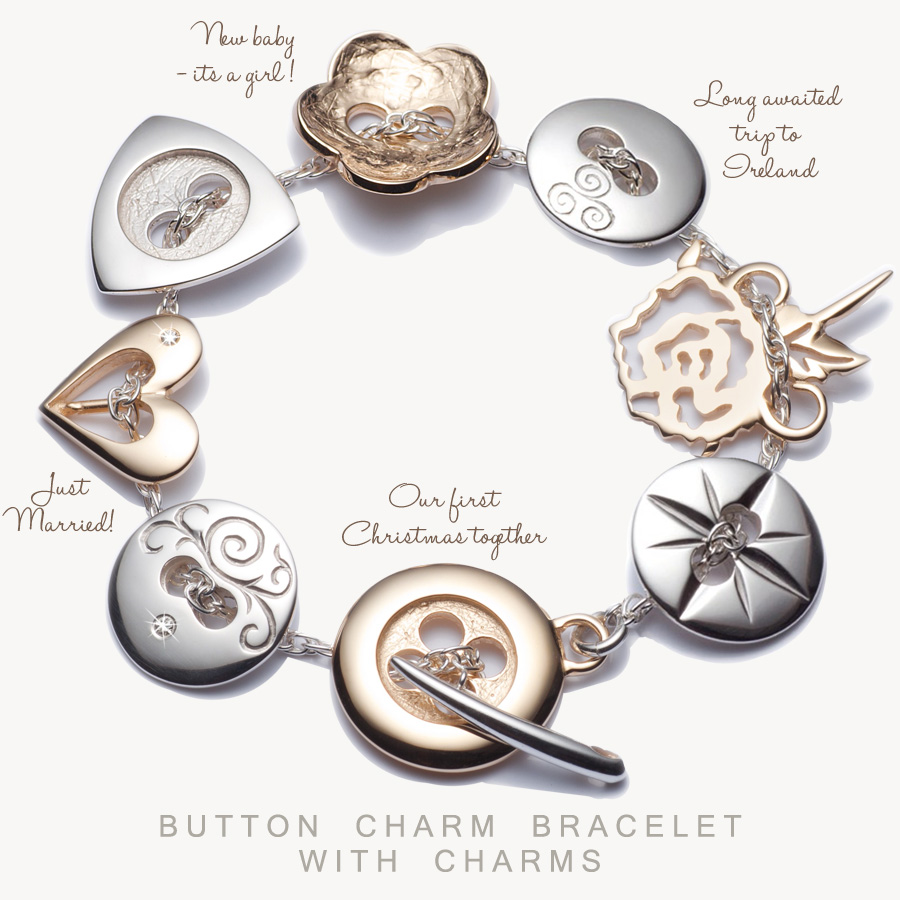 Graduation gifts top picks for the class of 2013 from irish jewelry button charm memory bracelet at celtic promisebutton charm memory bracelet with charms by button co at celtic promise buycottarizona Images