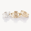 Modern Claddagh Ring, Love Loyalty Friendship, Celtic Promise