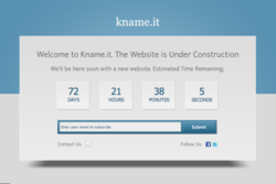 kname.it coming soon page
