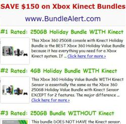 Deals on Xbox 360 Kinect Holiday Bundles