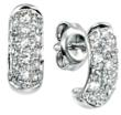 Half Hoop Pave Set Diamond Earrings