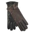 Women's Leather Glove in Black/Dark Brown