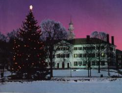 Dartmouth College lights a traditional tree on the Green.