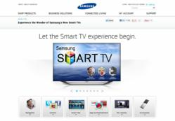 Samsung Smart TV product page