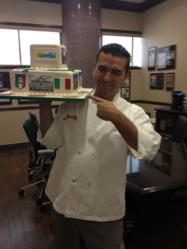 "Buddy Valastro, TLC's ""Cake Boss"" with Contiki cake"