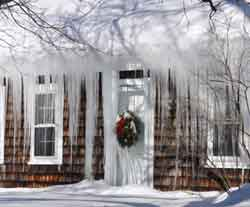 ice melt solutions help prevent ice dams and icicles
