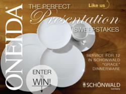 Oneida Foodservice Facebook Sweepstakes