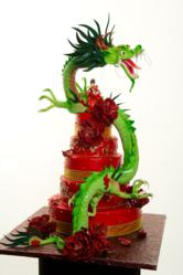Custom Shaped Dragon Cake by Pastry palace in Las Vegas