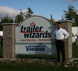 Daran Ultican, Branch Manager, Moncton, standing outside of Trailer Wizard's Moncton branch.