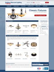 Screenshot of Builders Discount Lighting home page
