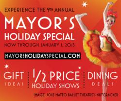 Visit www.mayorsholidayspecial.com and start a new tradition with the gift of a live performance this holiday season.