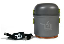 The PowerPot is a thermoelectric generator that will charge smartphones, headlamps, etc.