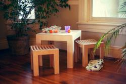 Cube kids table and chair set by Sodura