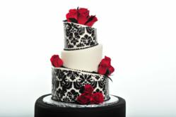 Sugar rose with damask cake