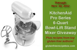 KitchenAid Mixer Giveaway and Author Gluten Free Recipes Event