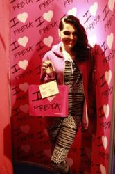 Jessie J at Freya Lingerie fit booth