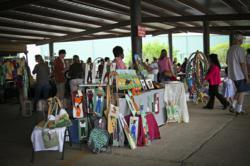A photo of a vendor at the Texas Avenue Makers Fair