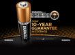 Duracell batteries with Duralock Power Preserve Technology