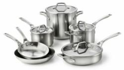 Calphalon AccuCore Copper 10 Piece Cookware Set
