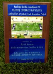 Walter J. Levermann Ram Stadium Plaque