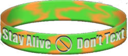 Prevent texting and driving wristband