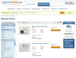 The new AppliancePartsPros.com website