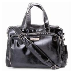 Earth Leather Be Preprepared Diaper Bag in Black