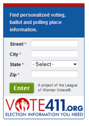 VOTE411 - Information Widget