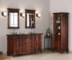 windsor 60 inch vanity and matching storage cabinet from xylem