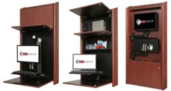 CCI and ICW low profile computer workstation cabinets