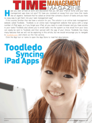 First Page of Bonus Article Toodleodo Syncing iPad Apps