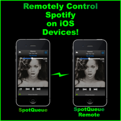 Remotely Control Spotify on your iPhone with SpotQueue.
