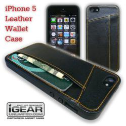 iPhone 5 Leather Wallet Case