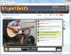 Musicians live on webcam.