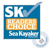Rutabaga Paddlesports Readers Choice award image from Sea Kayaker Magazine.