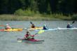 Student of Rutabaga's kayak school at Lake Michigan for the Door County Sea Kayak Symposium.
