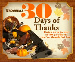"Brownells ""30 Days of Thanks"""