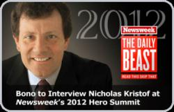 Kristof to Be Interviewed by Bono at Hero Summit