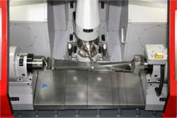 Blade milling process on the Hamuel HSTM1000
