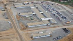 Wacker Polysilicon's temporary modular office building by ModSpace in Charleston, TN.