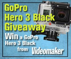 Win a free GoPro Hero 3 camera, Black Edition from Videomaker