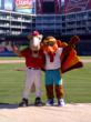 The competition heats up with Texas Rangers' mascot, Rangers Captain!