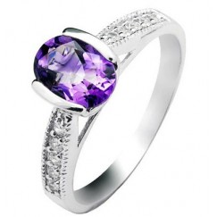 Amethyst Engagement Rings on JewelOcean