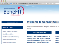 Screen Shot of BeneFIT with ConnectiCare demo