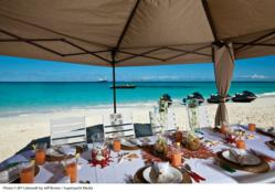 Lunch on the beach during a yacht charter