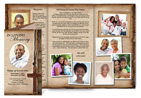 Funeral Brochures  Memorial Pamphlet Template Free